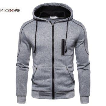 Miicoopie 2019 Mens Hoodies Solid Pullover Mens Outdoor Street Wear Mens Hoodie Sweatshirt