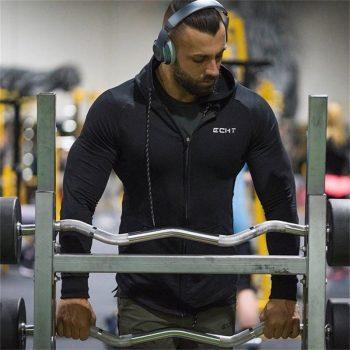 2018 New Fitness Men Hoodies Brand Clothing Men Hoody Zipper Casual Sweatshirt Muscle Men's Slim Fit Hooded Jackets Size M-XXXL