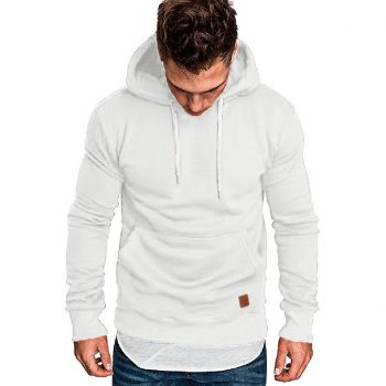 Sweatshirt Men Winter White Hoodie Male Long Sleeve Hoodie Men Streetwear Big Size Sweatshirt Men's Hoodies sudadera hombre 2019