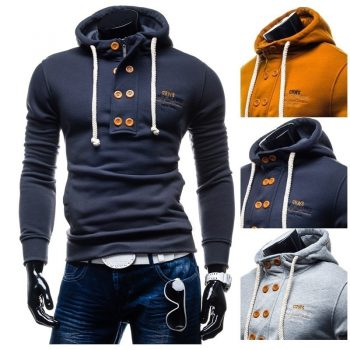 Zogaa 2019 New Brand Men's Spring Autumn Hoodies & Sweatshirts Casual Cotton Solid  Men Sweatshirts Size S- XXXL