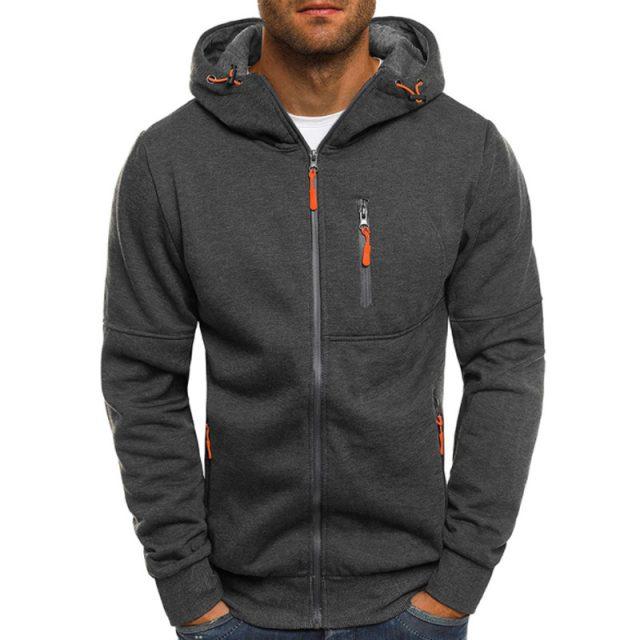 2019 Fashion Hoodies Men Brand Personality Zipper Hooded Sweatshirt Male Hoody Tracksuit Hip Hop Autumn Winter Hoodie Mens