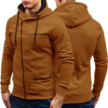 Autumn Winter New Mens Hoodies Long Sleeve Zipper Cardigan Hoodie Sweatshirt Men Casual Solid Hooded Pullover Sweatshirts M-3XL