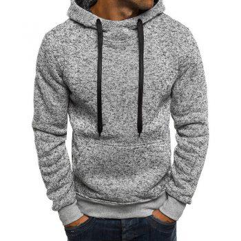LITTHING 2019 Autumn Men's Hooded Sweatshirt Harajuku Hoodie Hip Streetwear Pockets Pullover Men Casual Tracksuit Masculino