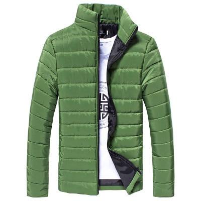 SAGACE Men Jacket 2019 Casual Cotton Stand Zipper Warm Winter Thick Windbreaker Outwear Slim Light Men Coat Jacket Clothing #45