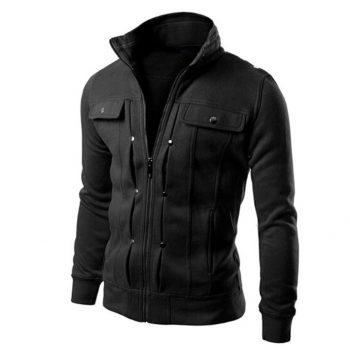 Men's Jacket Winter Warm Top Fashion Mens Slim Designed Lapel Cardigan Coat Jacket High Quality Mens Overcoat Blouse Mont