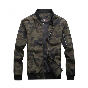 Quality Men's Camouflage Zipper Jackets Male Coats Camo Bomber Jacket Mens Hip Brand Clothing Autumn Outwear Plus Size M-7XL