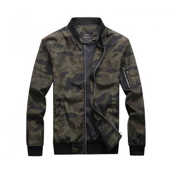 Quality Men's Camouflage Zipper Jackets Male Coats Camo Bomber Jacket Mens Hip Brand Clothing Autumn Outwear Plus Size M-7XL