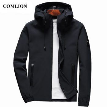 Jacket Men New Arrival Casual Solid Hooded Jackets Mens Fashion Zipper Outwear Slim Fit Spring Autumn Clothing High Quality C32