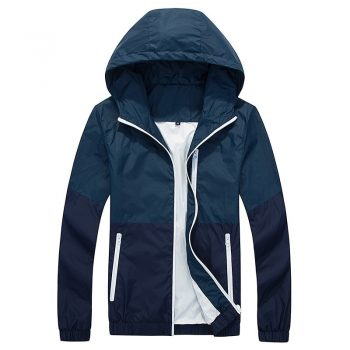 Thin Jacket Men Windbreaker Summer Autumn Fashion Jacket Mens Hooded Casual Jackets Male Coat Couple Outwear Sunscreen Clothes