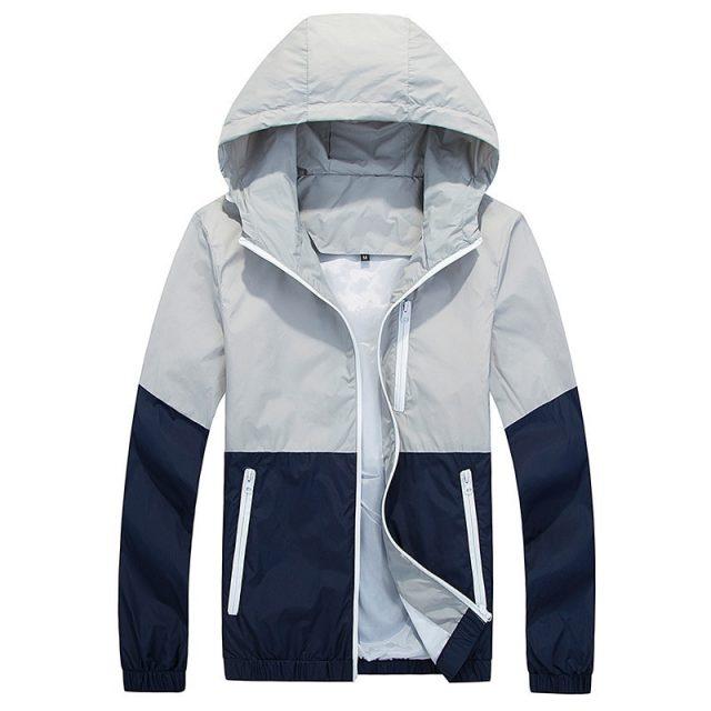 Thin Jacket Men Windbreaker Summer Autumn Fashion Jacket Mens Hooded Casual Jackets Male Coat Couple Outwear Sunscreen Clothes