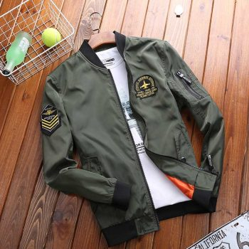 Spring Autumn Korean Fashion Clothing Male Bomber Jacket Men Casual Coat Windbreaker Light Weight Baseball Jacket