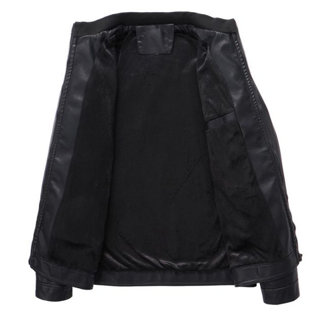 Autumn Winter Motorcycling pu Leather Jackets Faux Leather Jacket Mens Black Clothing Fashion Elastic Motorcycle Outerwear 304