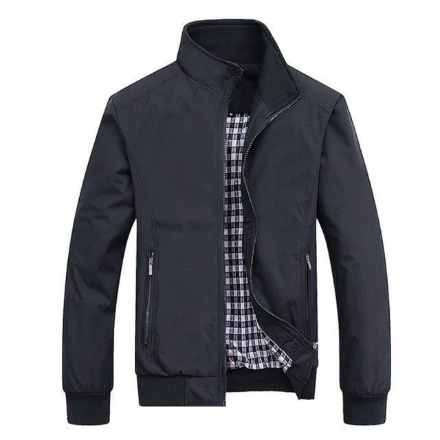 2019 Spring Autumn Casual Solid Fashion Slim Bomber Jacket Men Overcoat New Arrival Baseball Jackets Men's Jacket M-5XL Top