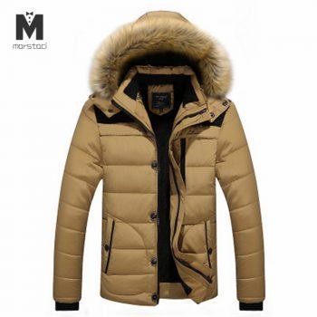 Hooded Men Winter Jacket 2018 New Fashion Thicken Warm Hooded Parkas Coats Male Casual Outwear Padded Outwear Casaco Masculino