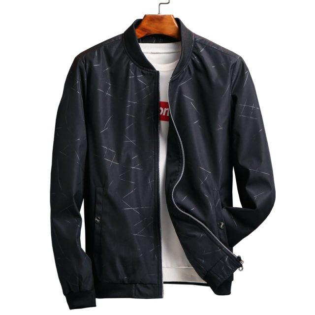 2019 winter coat men Spring Autumn Men's Jackets Solid Fashion Coats Men baseball jacket Bomber Jacket Male Casual Slim 4XL 1095