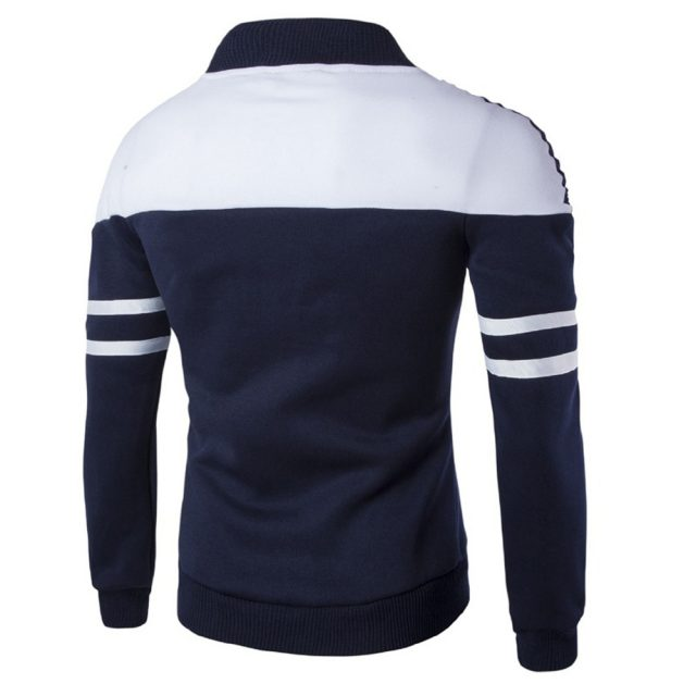 Mens Jackets Coats Fashion Men's Autumn Winter Zipper Sportswear Patchwork Jacket Long Sleeve Coat Jacket Coat Zipper Parka Men