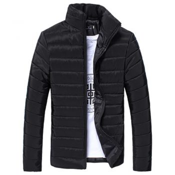 Men's Jacket New Casual Cotton Stand Zipper Warm Winter Thick Coat Jacket high quality Mens Autumn Blouse Overcoat Fashion