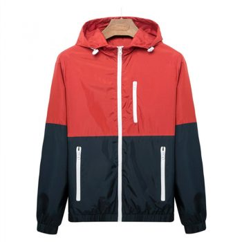 Jacket Men Summer Autumn Sun-protective Fashion Hooded Patchwork Brand Clothing Casual Jacket Homme Coat Thin Mens Jackets M-3XL