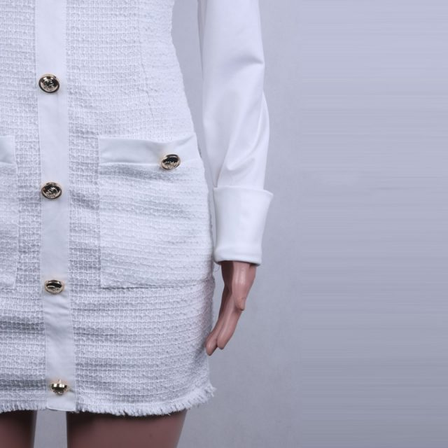 Lossky Plus Size Dress Women Autumn Winter Long Sleeve Pocket Office Short Mini Clothes Black 2019 Vestido Feminino High Quality