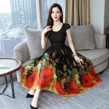 2019 Women Dress Boho Print Sexy Vintage Female Floral Pencil Dresses Evening Party Dress Bodycon Package Hip Vestidos