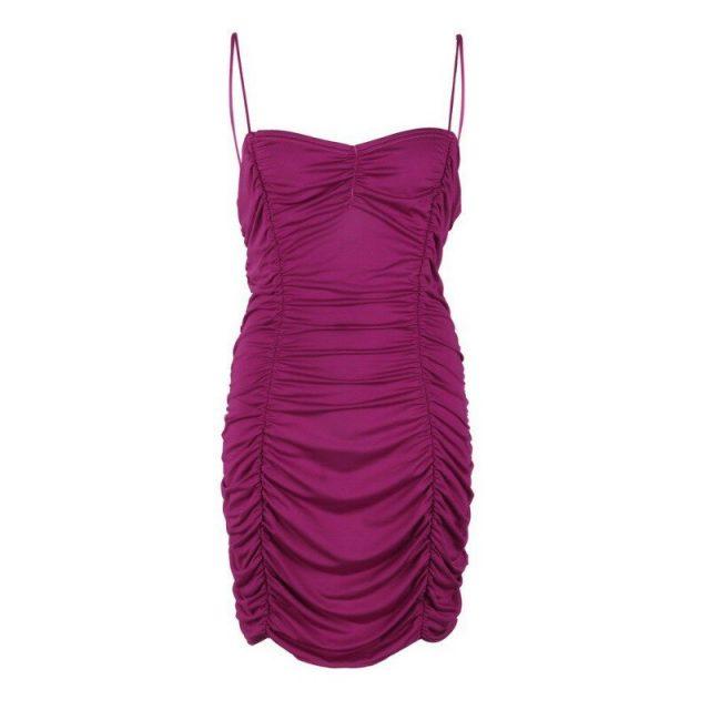 Elegant Women Slim Dress Backless Sexy Summer Dress Nightclub Low-cut Dress