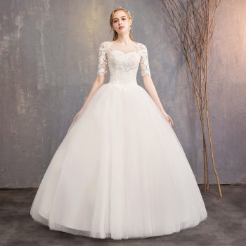 Robe De Mariee Embroidery Cream Wedding Dresses Sweetheart Lace Up Ball Gown Elegant Formal Bride Dresses Vestidos De Novia 2019