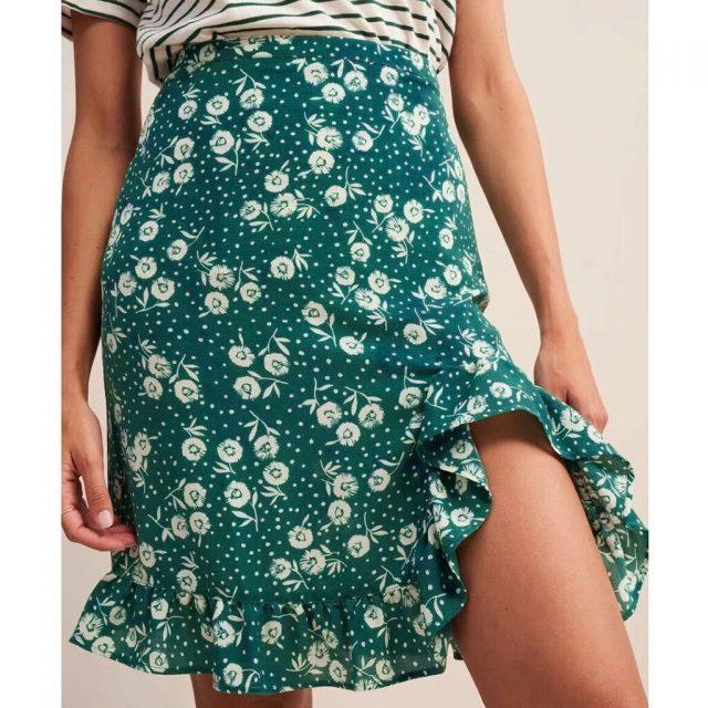 women clothes 2019 Fashion summer skirts high waist skirt sexy skirt Flower Printed Ruffles korean skirt Casual Wear W612