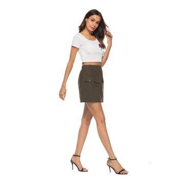 2019 summer skirt latest fashion Simple Button Comfortable Joker Skirt Fashion Skirt free shipping W612