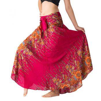 Womens Long Skirts Bohemian Gypsy Hippie Summer Boho High Waist Big Hem Skirt