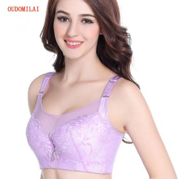 OUDOMILIA Fashion New Sexy Push Up Bra Big Size C D Thin Cup Plus Size Large Breasts Bra For Women Underwear Brassiere Gather Bh