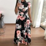 Women's Floral Printed Maxi Dress