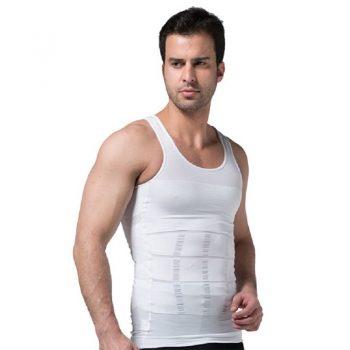 2019 Men Slimming Body Shaper Tummy Shaper Vest Slimming Underwear Corset Waist Waist Cincher Men Bodysuit