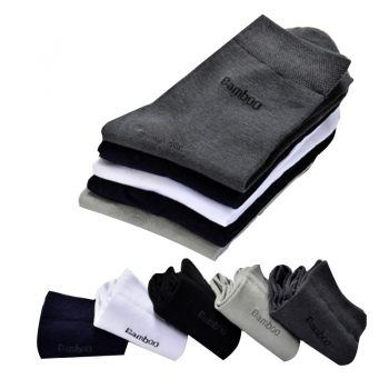 Brand New Men Bamboo Fiber Socks High Quality Casual Breatheable Anti-Bacterial Man Long Sock 5pairs / lot  Winter Men Sox