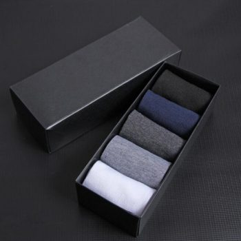 High Quality Casual Men's Socks Business For Men Cotton Brand Sneaker Socks Quick Drying Black White Long Sock 5 Pairs Big Size