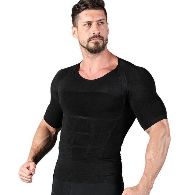 Men's Slimming Shaper Posture Vest Male Belly Abdomen For Corrector Compression Body building Fat Burn Chest Shirt Corset Hot