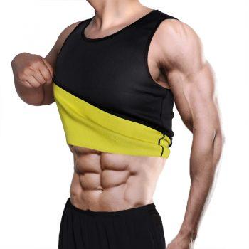 Men's Sweat Vest Body Shaper Shirt Thermo Slimming Sauna Suit Weight Loss Black Shapewear Ultra Neoprene Waist Trainer