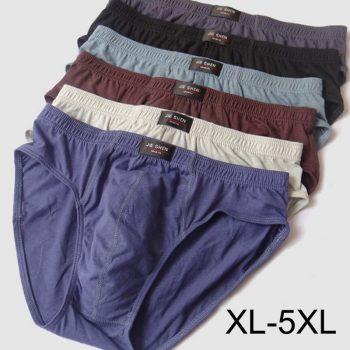 Cheapest 100% Cotton Mens Briefs Plus Size Men Underwear Panties 4XL/5XL Men's Breathable Panties