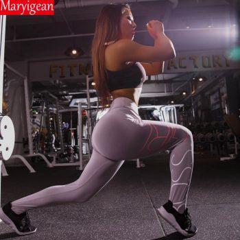 Maryigean Letters Printing Leggings 2019 New Fashion Slim High Waist Fitness Leggings Casual Leggings Fitness Workout Leggings