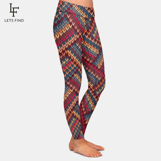 2019 New Fashion High Waist Leggings 3D Print for Women  Top Quality Milk Silk Leggings