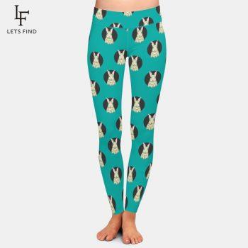LETSFIND Female Pants Fashion 3D Cartoon Rabbit Print Workout Fitness Leggings High Waist Plus Size Women Trousers