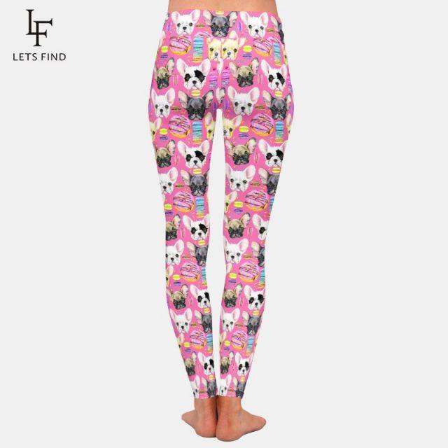 New Arrival Women Elastic Legging Cartoon Cute Dog Printing High Waist Fashion Pants Plus Size Casual Leggings