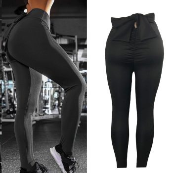Women Pants Bowknot Lifting Hips Slim Fit Breathable Casual Sports Pants IK88