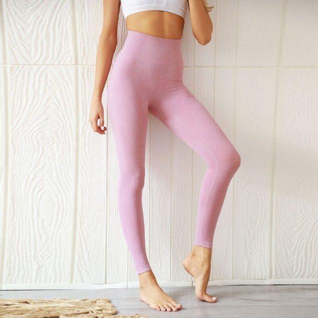 Seamless Yoga Sport Leggings Gym High Waist Sport Yoga Pants Push Up Women Fitness Elastic Sport Tights Running Pants Sportswear