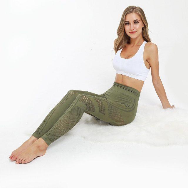 Elastic Yoga Pants Seamless Leggings Sportswear Women Fitness Gym Yoga Sport Leggings Sport Tights Running Pants Sports Clothing