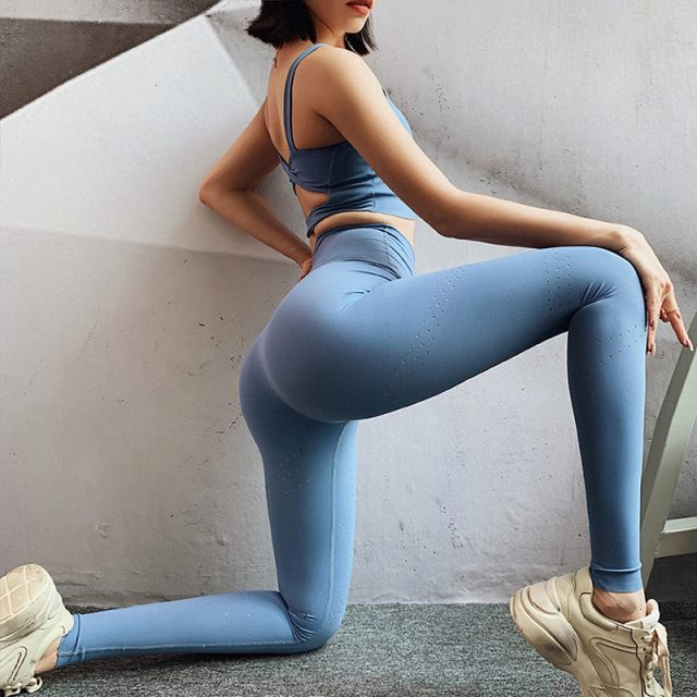 Yoga Pants Push Up Gym Leggings Sport Women Fitness Yoga Leggings Sport Trousers Women Scrunch Leggings Workout Fitness Clothing