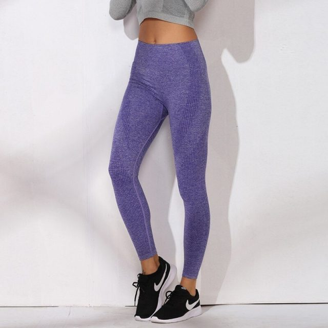 Solid Yoga Pants High Waist Leggins Sport Women Fitness Yoga Leggings Seamless Elastic Sport Tights Running Pants Sport Clothing