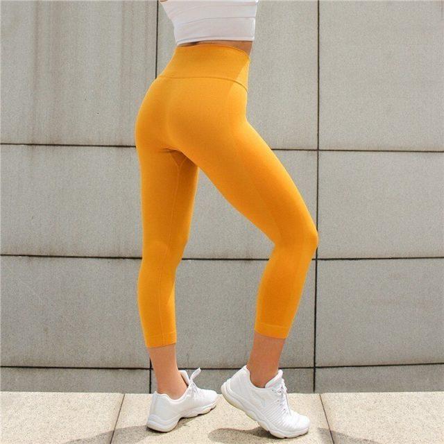 Seamless Yoga Leggings Women High Waist Elastic Solid Sport Yoga Pants Women Fitness Sport Leggings Running Pants Sport Clothing