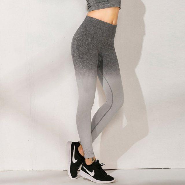 Elastic Yoga Pants Push Up High Waist Yoga Sport Leggings Seamless Women Fitness Sport Tights Running Pants Training Sports Wear