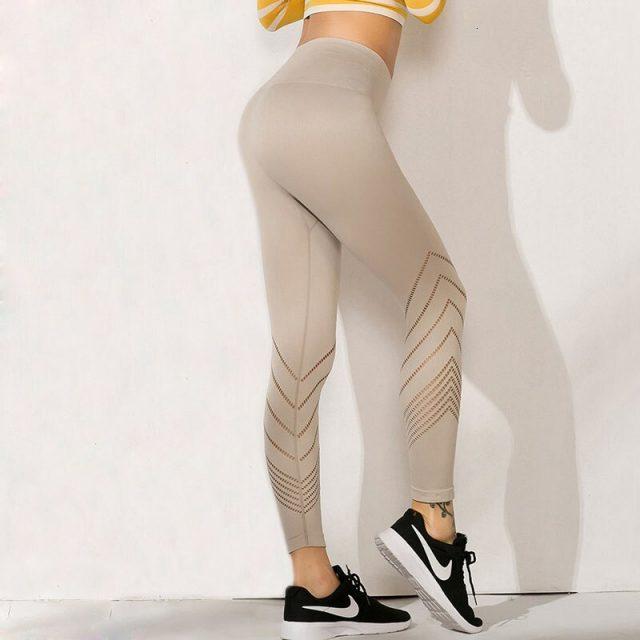 High Waist Yoga Pants Women Fitness Seamless Yoga Sport Leggings Hollow Sexy Workout Training Sport Running Pants Sport Clothing