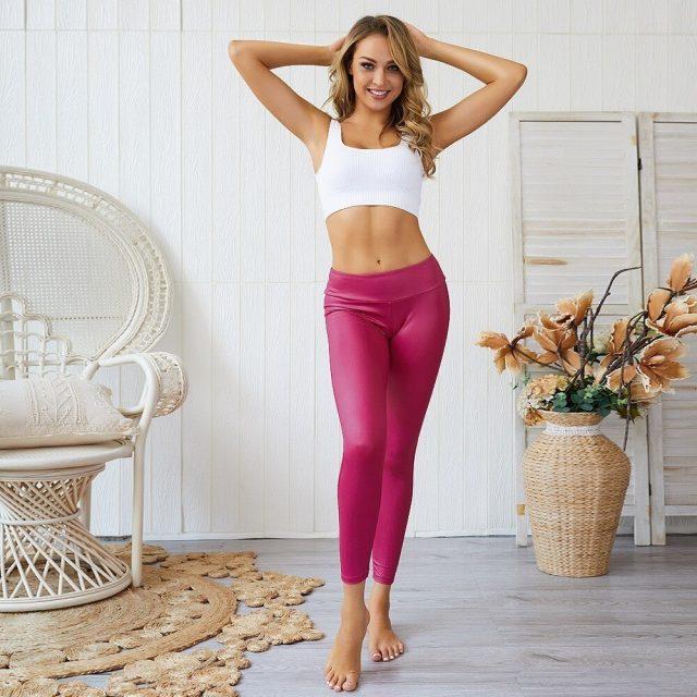 Gym Leggings Sport Women Fitness Yoga Leggings High Waist Yoga Pants With Pockets Sport Leggings Workout Sport Tights Sportswear